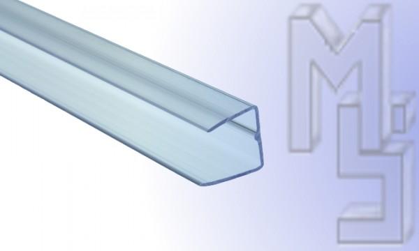 Abschlußprofil aus Polycarbonat, klar 16 mm