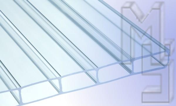 16 mm HIGHLUX® Acrylglas-Stegplatte 32 mm Stegabst., klar, Struktur 2-fach, (Plexiglas-Rohmasse)