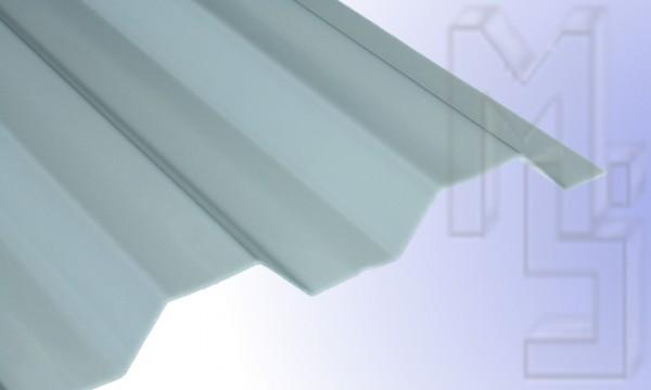 Polycarbonat Lichtplatte, thermik/grau 76/18, glatt, Trapez