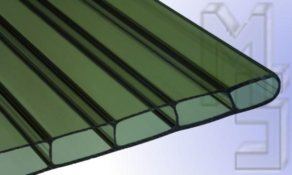 16 mm HIGHLUX® Acrylglas-Stegplatte 32 mm Stegabst., bronze, Struktur 2-fach, (Plexiglas-Rohmasse)