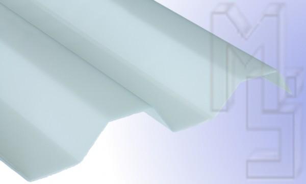 Polycarbonat Lichtplatte, opal-weiß 76/18, glatt, Trapez