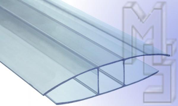 H Profil aus Polycarbonat, klar 16 mm