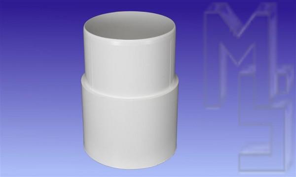 Steckmuffe, weiss, PVC, DN 75