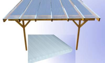 2,0 m Lange Komplettdächer, Opal / Milchglas