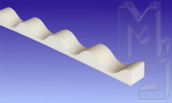 Profilfüller 76/18 Sinus, weiß, 988mm lang