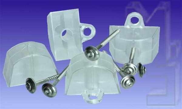 50 Stück VA Spenglerschrauben, 4,5 x 65 plus Abstandhalter Kunststoff Profil Sinus 130/30