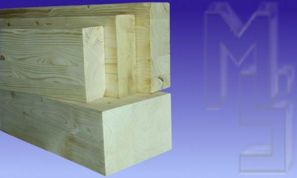 10 x 20 cm Leimbinder/ Brettschichtholz, wetter-fest verleimt