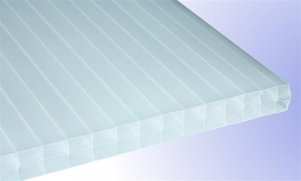 16 mm Exolon® IQ Relax Stegplatte, opal-weiß, Struktur 3-fach + X (aus Makrolon®-Rohmasse)