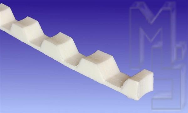 Profilfüller 76/18 Trapez, weiß, 1216mm lang