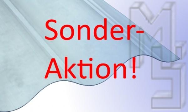 !!!Sonderaktion!!!Polycarbonat Lichtplatte, glasklar 76/18, glatt, Sinus