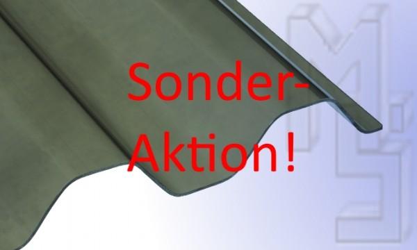 !!!Sonderaktion!!!PVC Lichtplatte, 70/18 mm braun/bronze, glatt, Trapez