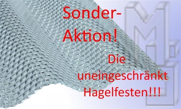 !!!Sonderaktion!!! PC Lichtplatte glasklar, uneingeschränkt Hagelfest 76/18, wabe, Sinus, 2,6 mm