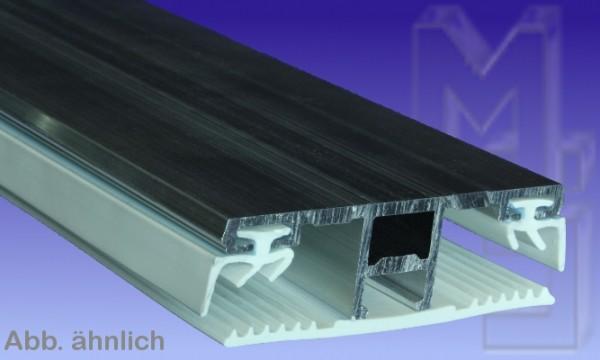 Verbindungsprofil, Alu/Gummi, für 8 und 10 mm, pressblank