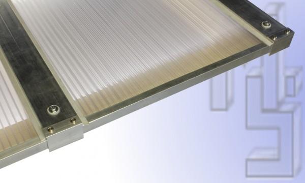 3,00 m Länge x 6,12 m Breite, Komplett-Dachhaut klar PC Stegpl.+Zub. A/A