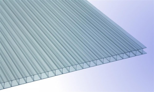 6 mm Stegplatte aus Polycarbonat, klar, Struktur 2-fach