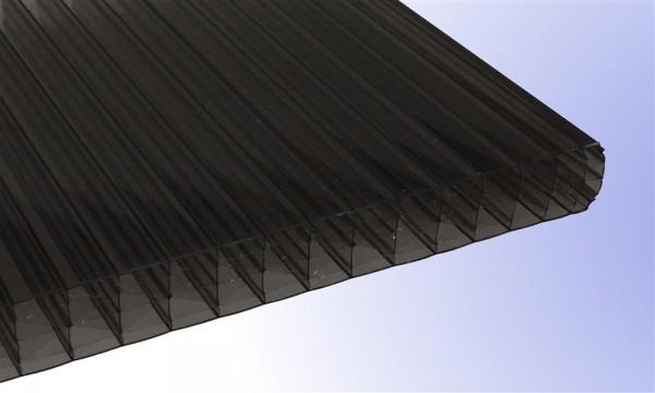 25 mm Stegplatte aus Polycarbonat, bronze, Struktur 7-fach + XX