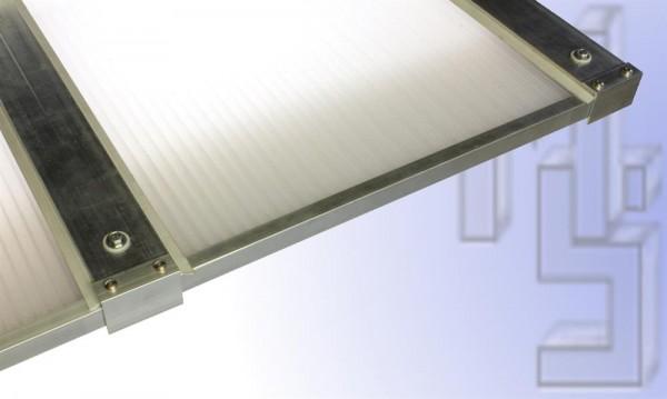 3,50 m Länge x 7,13 m Breite, Komplett-Dachhaut opal PC Stegpl.+Zub. A/A