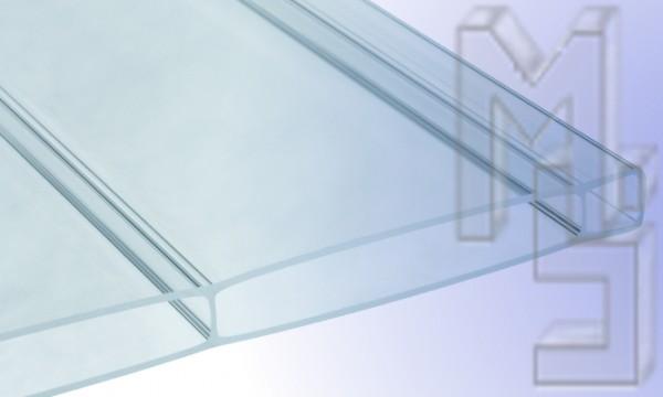 16 mm HIGHLUX® Acrylglas-Stegplatte 96 mm Stegabst., klar, Struktur 2-fach, (Plexiglas-Rohmasse)