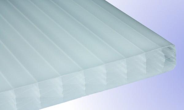 25 mm Exolon® IQ Relax Stegplatte, opal-weiß, Struktur 5-fach + XX (aus Makrolon®-Rohmasse)