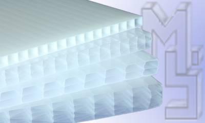 Stegplatten Hohlkammerplatten in Milchglas opal