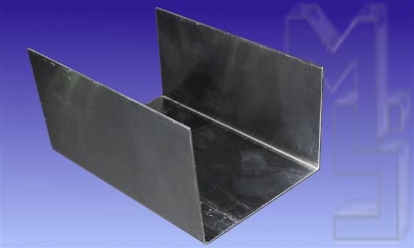 Kastenrinnen-Verbinder, pressblank, aus Aluminium, 80/120