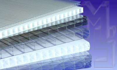 Polycarbonat Doppelstegplatten, Stegplatten in den verschiedenen Stärken
