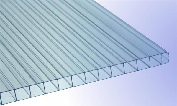 10 mm Stegplatte aus Polycarbonat, klar, Struktur 2-fach