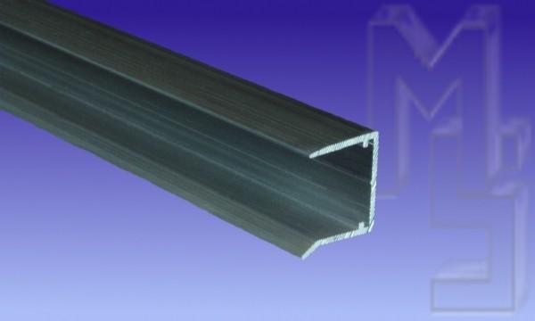 Aluminium U Profil zum Verschluß, 16 mm, pressblank